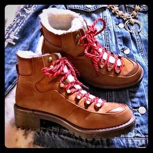 Faux Shearling Lined Boots